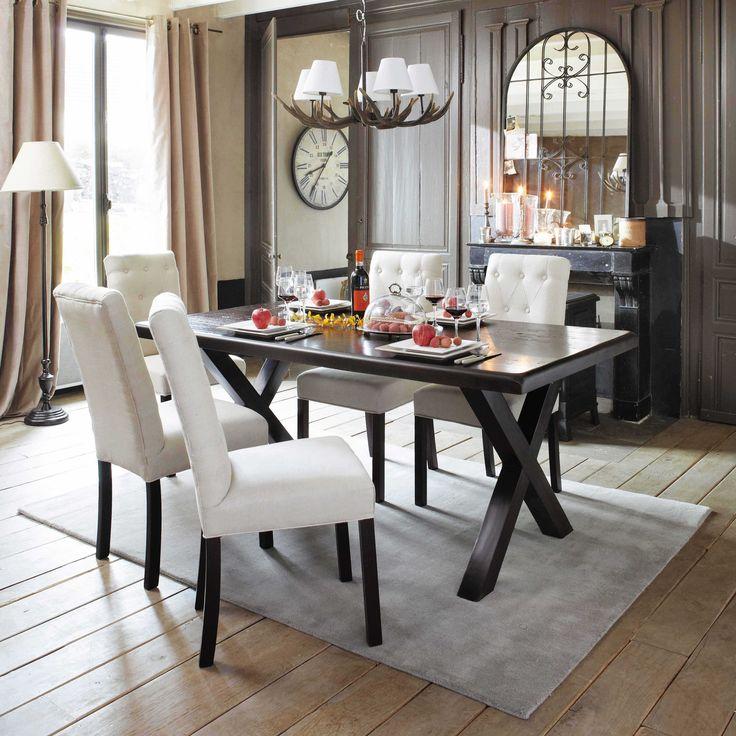 Lustre branches en rsine et coton blanc d cm ramure maisons du monde with table maison du monde - Table maison du monde d occasion ...