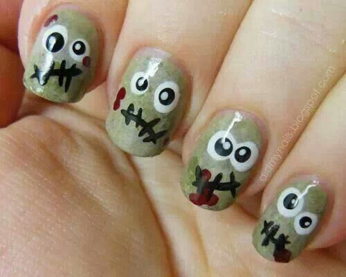 These monster nails are so cute!!!
