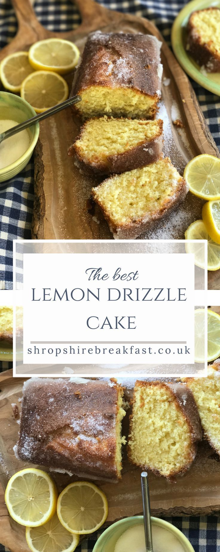 The best easy lemon drizzle cake recipe | a moist cake based on a recipe by Mary Berry | all my B&B guests love it - try baking it this weekend #cake #recipe