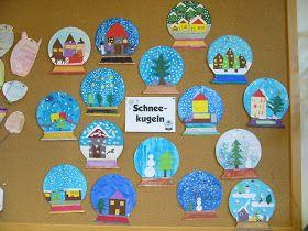 Schneekugeln als Kunstthema    Mit einer fünften Klasse habe ich im Kunstunterricht Schneekugeln angefertigt. Die Kinder bekamen von mir ei...