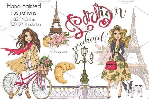 Parisian Weekend Design Kit by Tanya Kart on @creativemarket