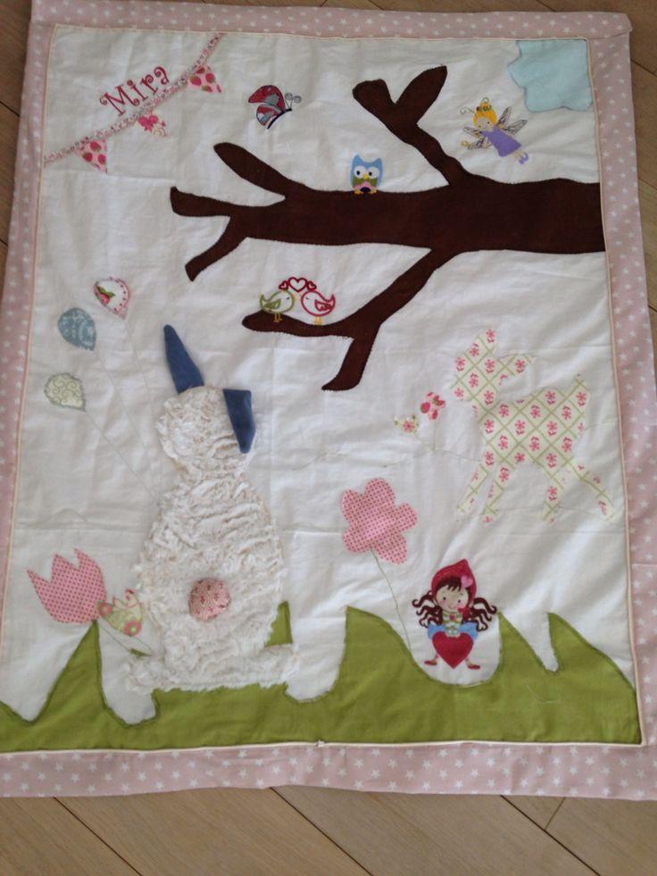 Babydecke krabbeldecke Decke Erlebnisdecke  Baby Mädchen
