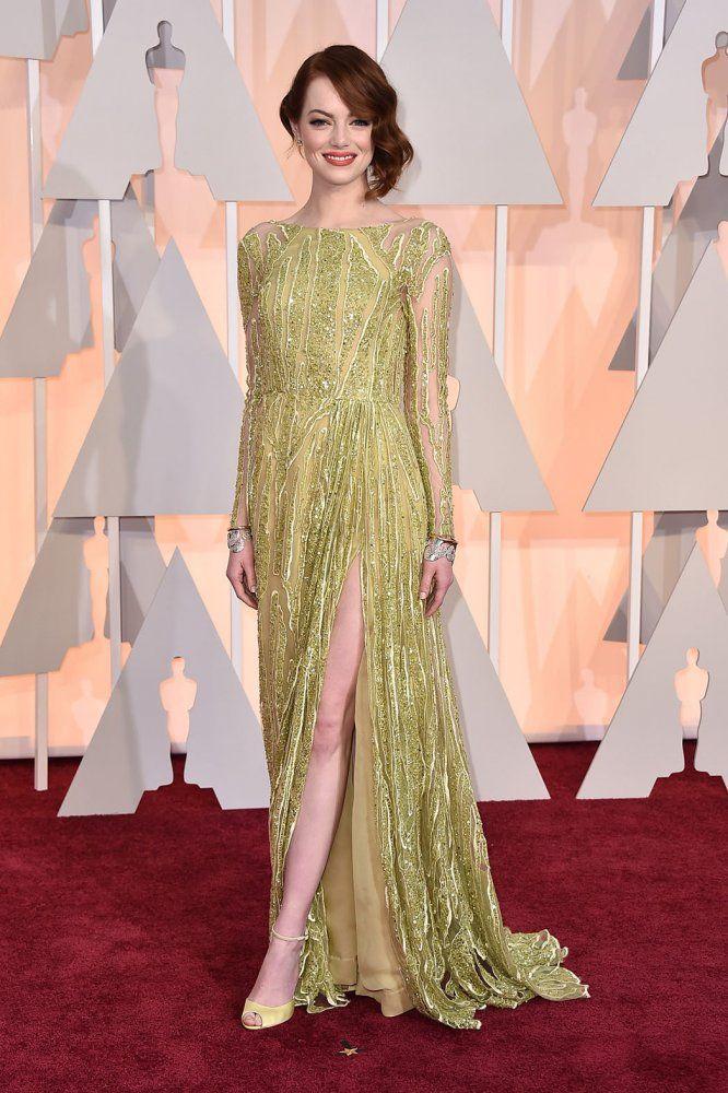 EMMA STONE en Elie Saab | Oscars 2015