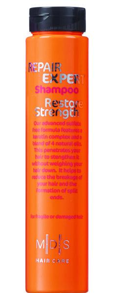 Бессульфатный восстанавливающий шампунь для поврежденных и ломких волос. Кератиновый комплекс питает и восстанавливает структуру волос, предохраняя от ломкости. Масло моринга, авокадо, миндаля, рыжиковое масло в комплексе с экстрактами красного дерева  и алоэ вера придают гладкость, блеск и мягкость волосам, облегчая расчесывание. Подходит для ежедневного применения. Для поврежденных и окрашенных волос. #ПарфюмерияИнтернетМагазин #ПарфюмерияИКосметика #ПарфюмерияЮа #КупитьДухи #КупитьП...