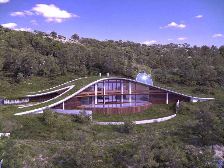 CURVY Eco-House by Luis de Garrido