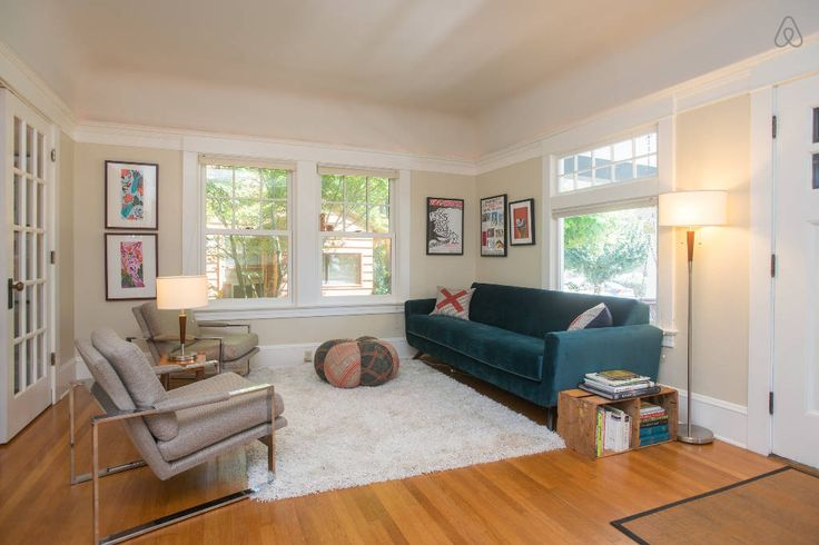 $300/night House in Portland, United States. Our sunny and modern Portland craftsman is great for kids and adults. It has spacious rooms, new kitchen/bathrooms, TV room with great sound, a private side yard and large back deck. Plus, it's walking distance to restaurants, shops, and the bus. ...