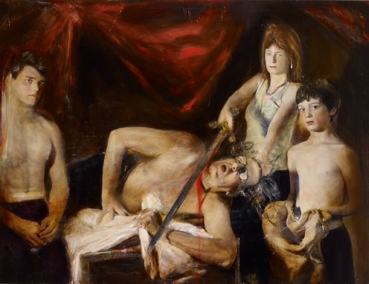 Rodney Pople: Artist and family (after Caravaggio) :: Archibald Prize 2011 :: Art Gallery NSW