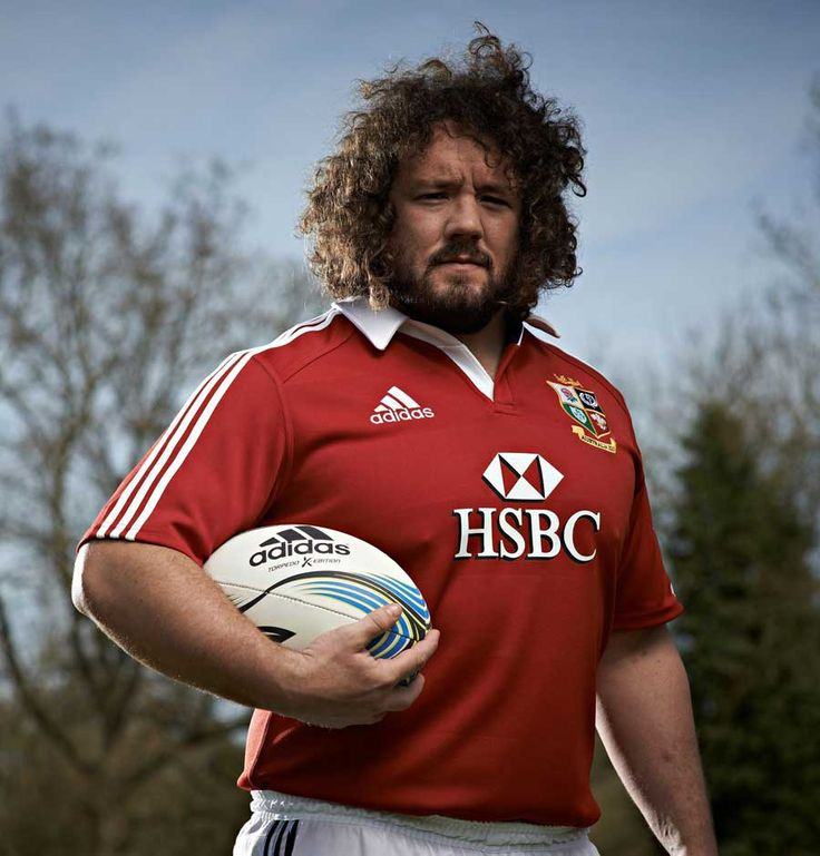 Adam Jones, No.3 for Wales...another favorite. That hair!