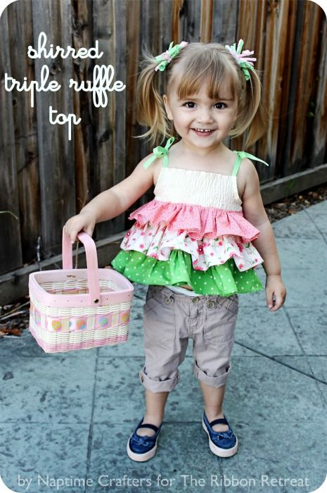 cute ruffle top tutorial