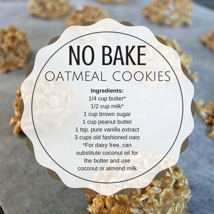There is nothing better than no bake oatmeal cookies. You can even lick the bowl without worrying about raw eggs!