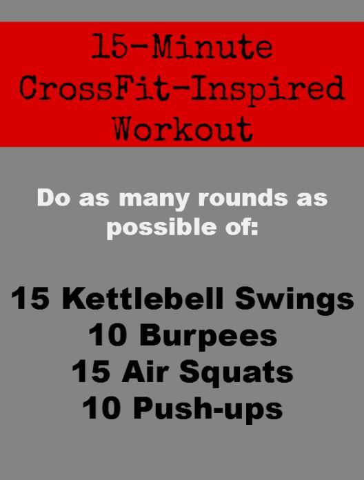 """Here's a WOD (""""Workout of the Day"""") that will work your entire body in just 4 moves.   Health.com"""