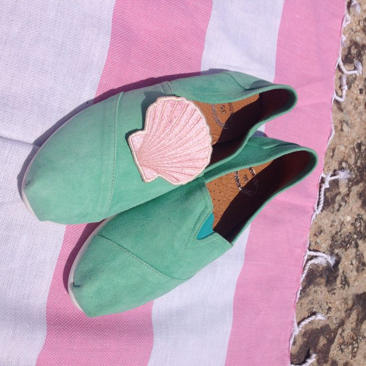Greek beach summer fashion:Amorgos suede leather slip-on. Mermaid style. found at www.nympheswimwear.com