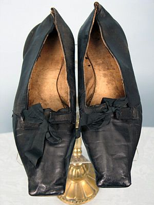 Gents Evening Shoes, American, 1830-1840