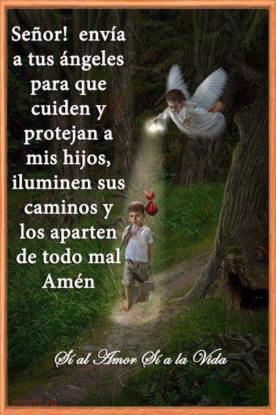 Oracion para cuiden y protejan a nuestros hijos.