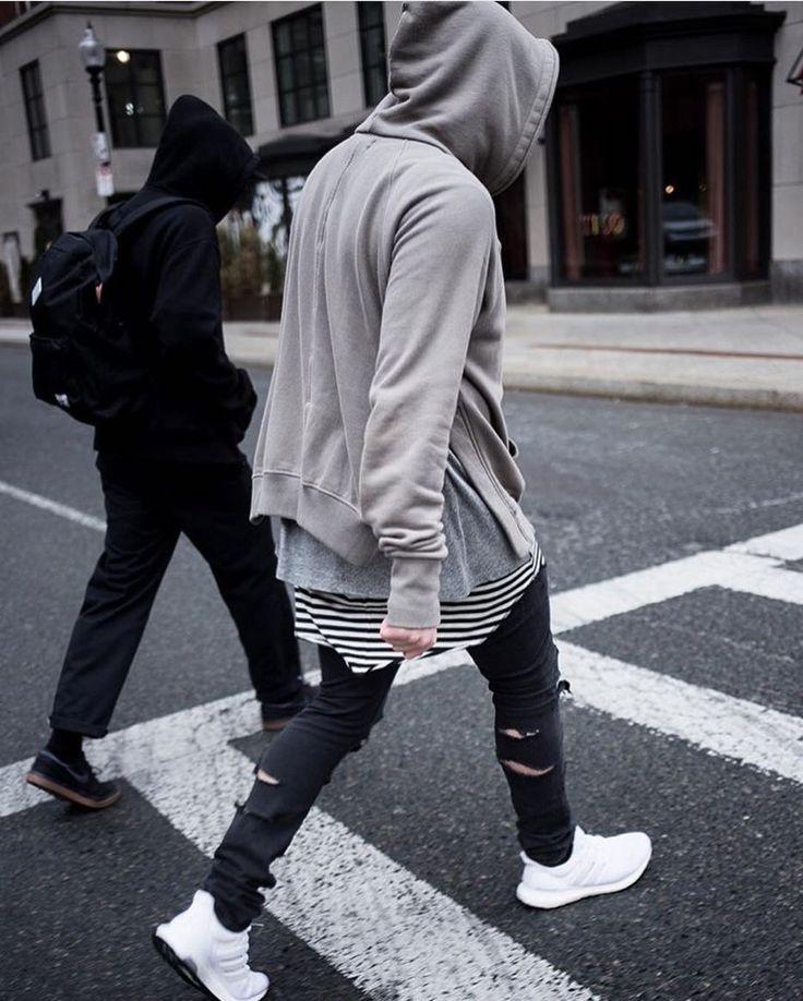 Outfit by @danalations  ________________________________________  Fear of God Hoodie Fear of God Tee Fear of God Tank  HM denim Shoes - Adidas Ultraboost by lavish.fashion