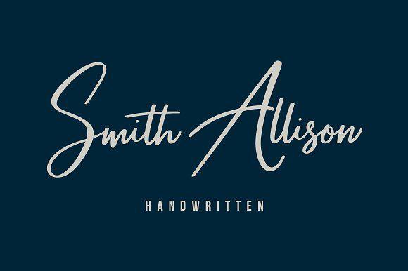 Smith Allison - Signature Font by Maulana Creative on @creativemarket