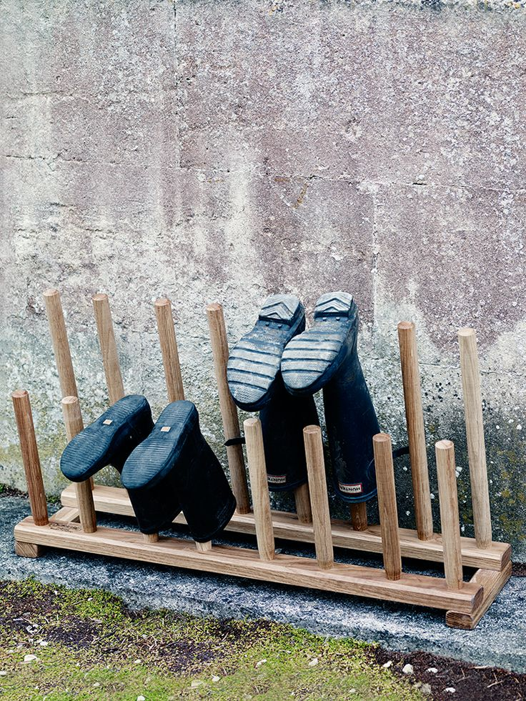 Boot and Shoe Rack - £100 at Cox & Cox but I'm sure we can make one for a fiver!