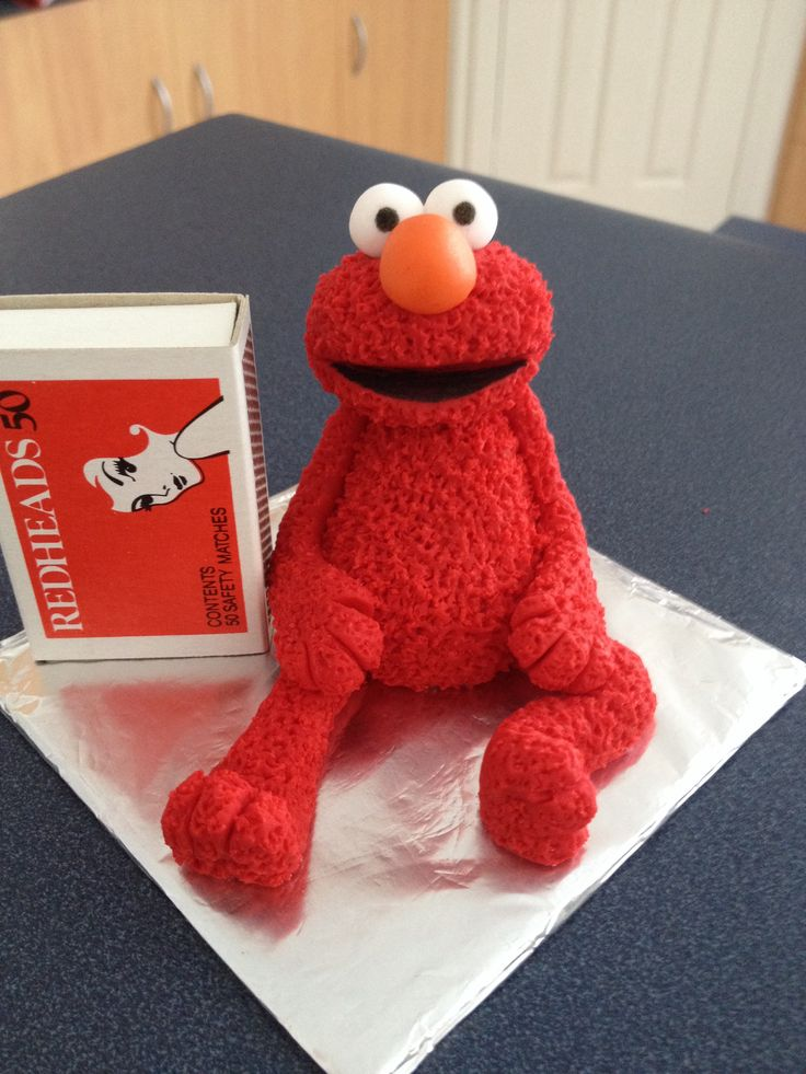 "Elmo cake topper for the Mothers Group Joint 1st birthday cake.  2.5"" high"