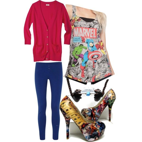 """Avengers Outfit"" by brittianybear-swepston on Polyvore"
