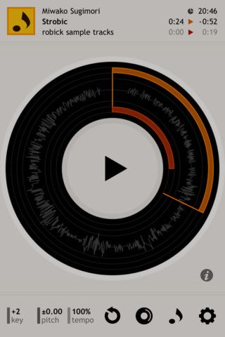 Robick is an audio player for listening to music deeply. change and visualize the way you listen to music. #iphone #app