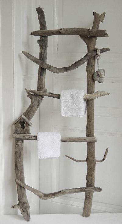 i made one like this as a flower trellis, but also could make one for towels etc.