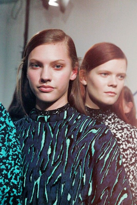 Alternative coloured animal print at Proenza Schouler AW14 NYFW. More images at: http://www.dazeddigital.com/fashionweek/womenswear/aw14