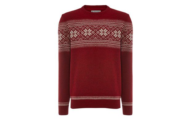 """Snowflake Woollen Jumper. """"Add a touch of novelty to your knits with this playful Fair-Isle style jumper. The seasonal snowflake design is perfect at this time of year."""""""