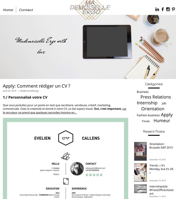 17  best ideas about comment rediger un cv on pinterest