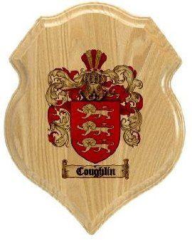 $34.99 Coughlin Coat of Arms Plaque / Family Crest Plaque