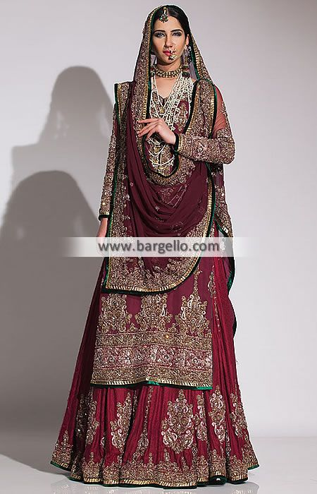 Bridal Gowns Kuwait : Pakistani wedding dresses fahad hussayn dress