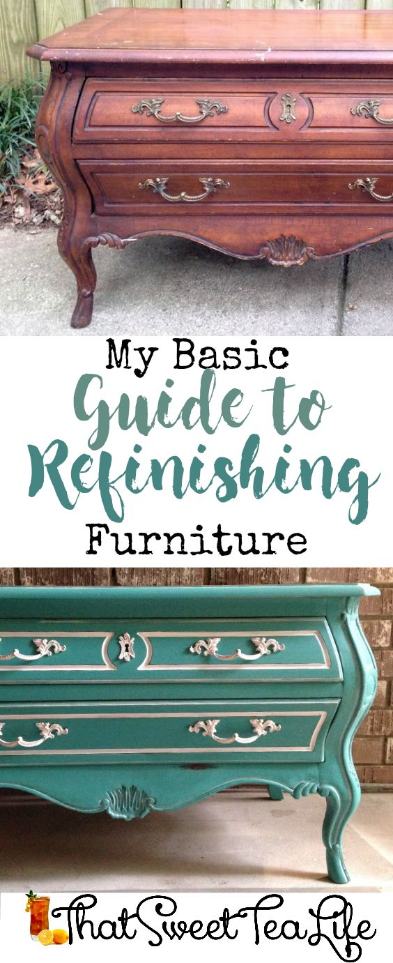 my easy to understand guide on refinishing furniture | painted | how to paint | printable | easy painted furniture | chalk paint | milk paint