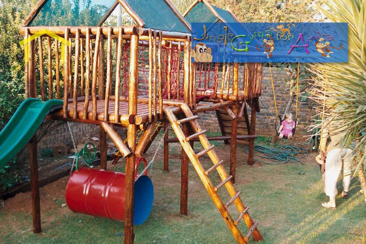 Jungle gyms for kids outdoor gym plans free downloads for Wooden jungle gym plans