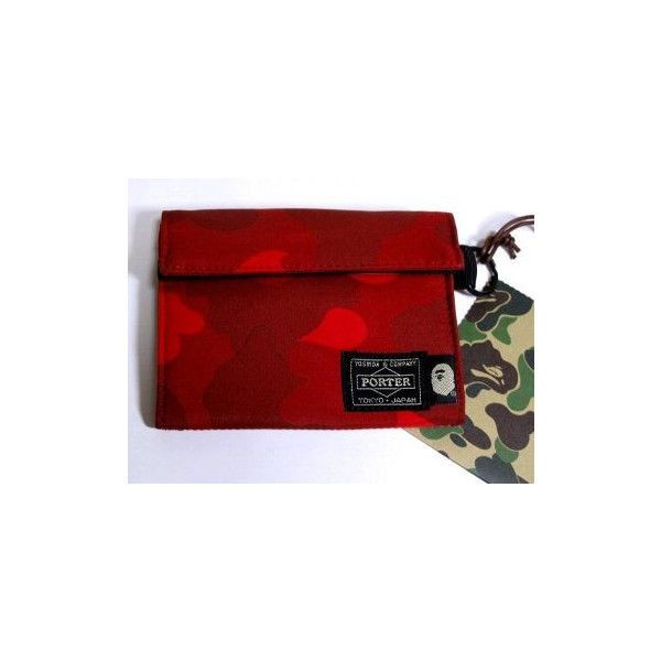 YA APE Porter Wallet coin case Camouflage purse red  5.1 #YAAPEPorter #MilitaryTacticalWallets