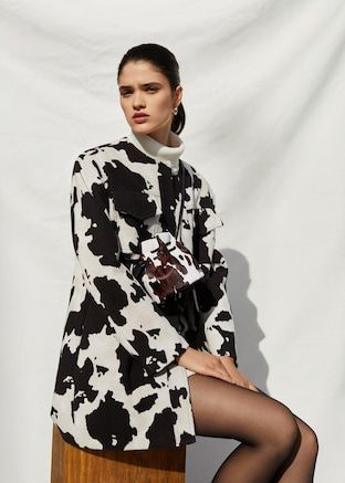 a6ea00ff1 Cow print jacket - Women in 2019 | animal | Animal print outfits ...
