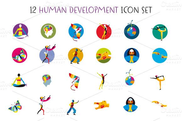 Human Development Icons Set by ÁRTICA on Creative Market