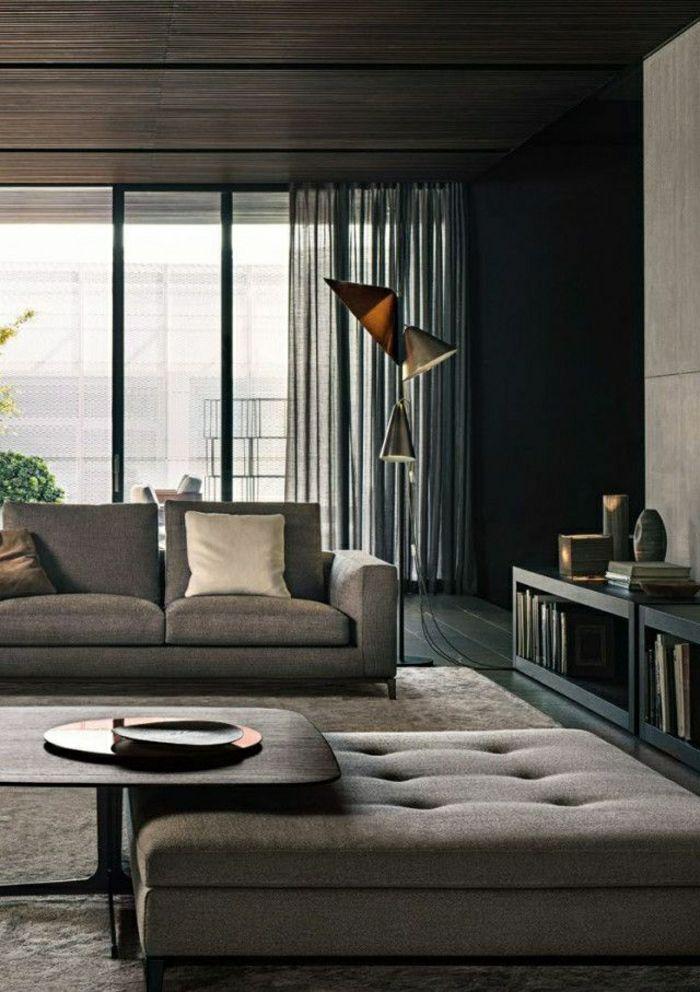 17 meilleures id es propos de rideaux salon moderne sur. Black Bedroom Furniture Sets. Home Design Ideas