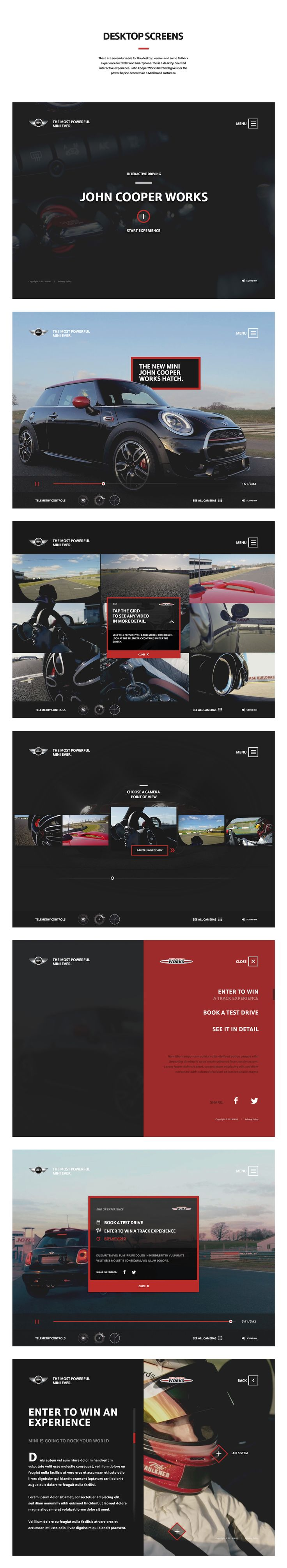 Mini Cooper Works - Digital Interactive Experience on Behance