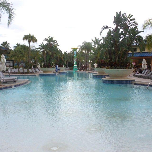 Hotel Pool at the Hilton Orlando Hotel, Florida, USA