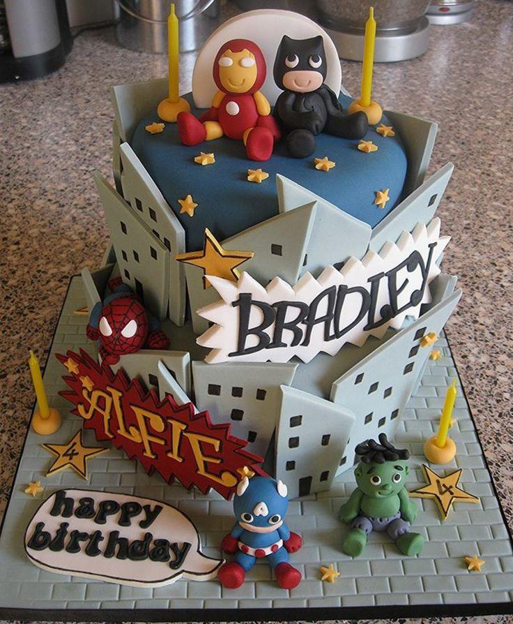 Baby Superheroes Cake