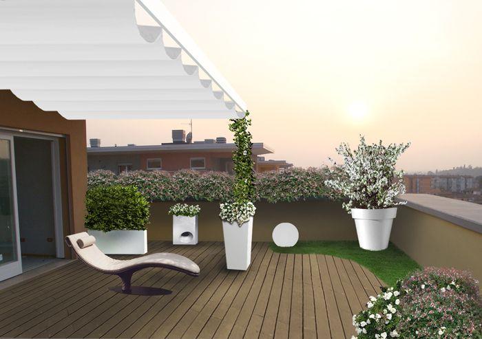 Terrazzo A Brescia 2 Progettazione Di Giardini Terrazza Con Giardino Arredo Giardino Gazebo