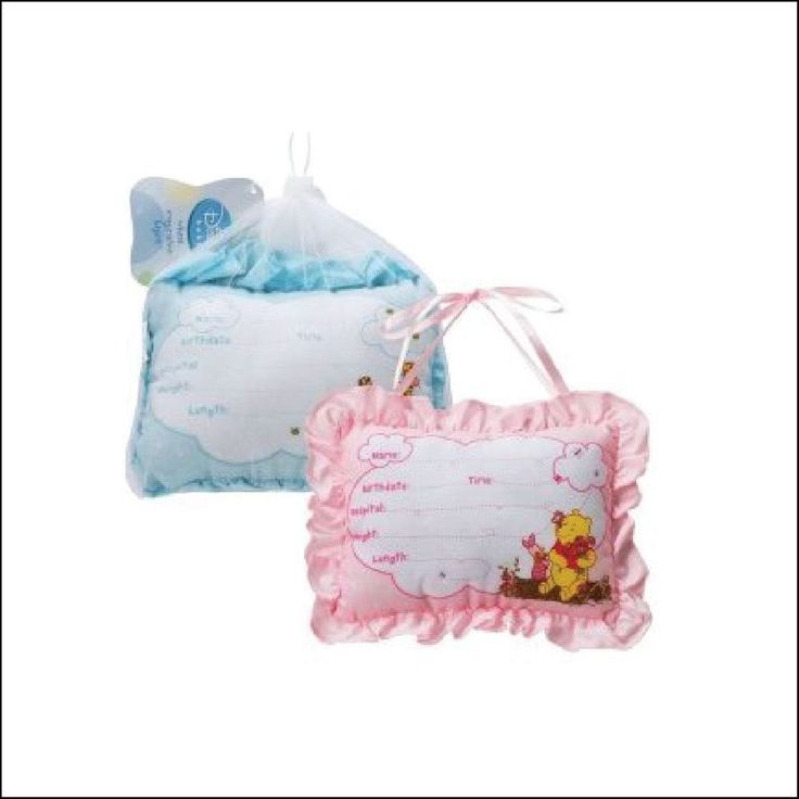 winnie the pooh birth announcement pillows! pen included. for #baby girl. from $12.0