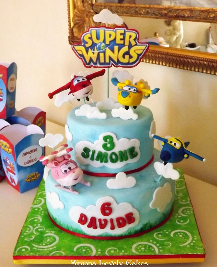 Superwings Cake