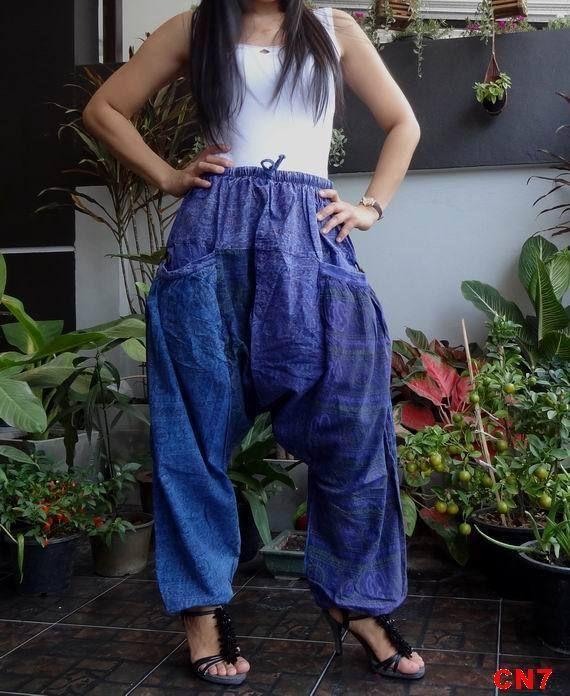 CN7-Unisex Ohm Patchwork Harem Baggy Pants,Drop Crotch Trousers,100% Cotton. #TribalFashion #DropCrotchCasual