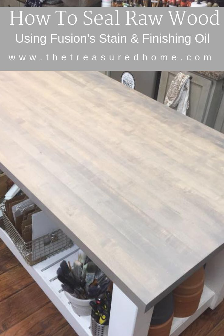 Using Fusion Stain And Finishing Oil On Raw Wood Raw Wood Furniture Staining Furniture Custom Painted Furniture