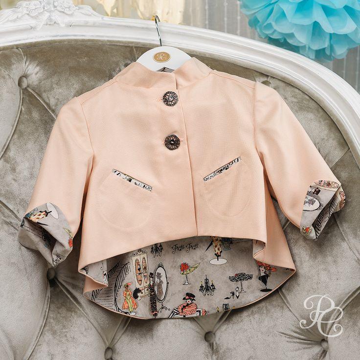 "Jordan summer Coat for little girls.  Sacou de vara pentru fetite Jordan, colectia ""A party for Daisy"""