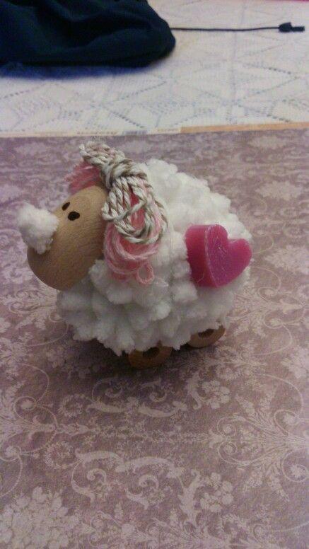 Pecorella con cuoricino di sapone