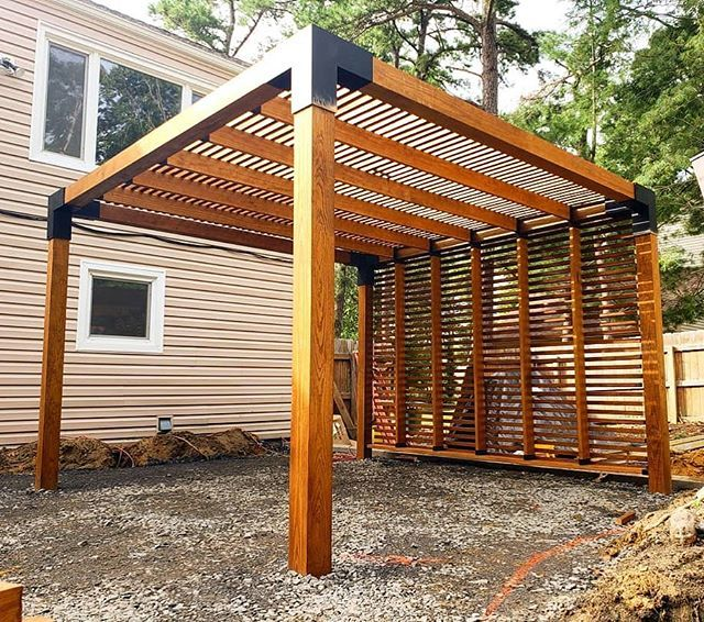 Pergola Kit With Shade Sail For 6x6 Wood Posts Outdoor Pergola