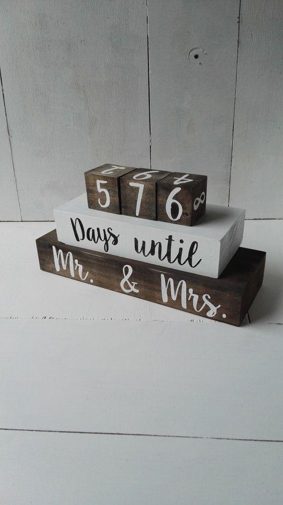 Countdown. Wedding Countdown Blocks. Countdown by PaperPearNZ