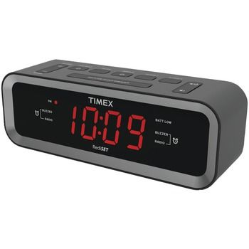 Timex Am And Fm Dual-alarm Clock Radio With Usb Charge Port