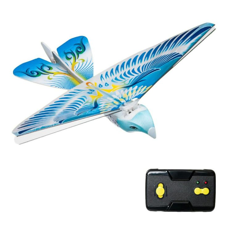 Flying Avitron Bionic Blue Bird Ornithopter RC Remote Control Toy PVC Flying Bird Hot Selling Great Children Rc Flying Toy